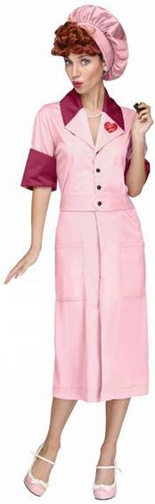 I LOVE LUCY CANDY FACTORY COSTUME FOR WOMEN
