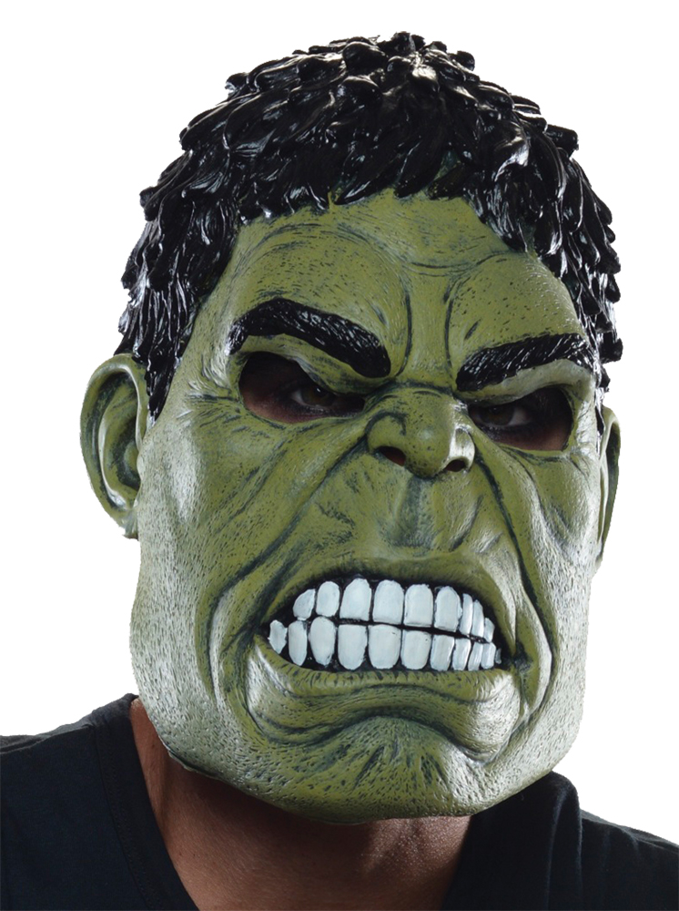 INCREDIBLE HULK COSTUME MASK FOR ADULTS MEN