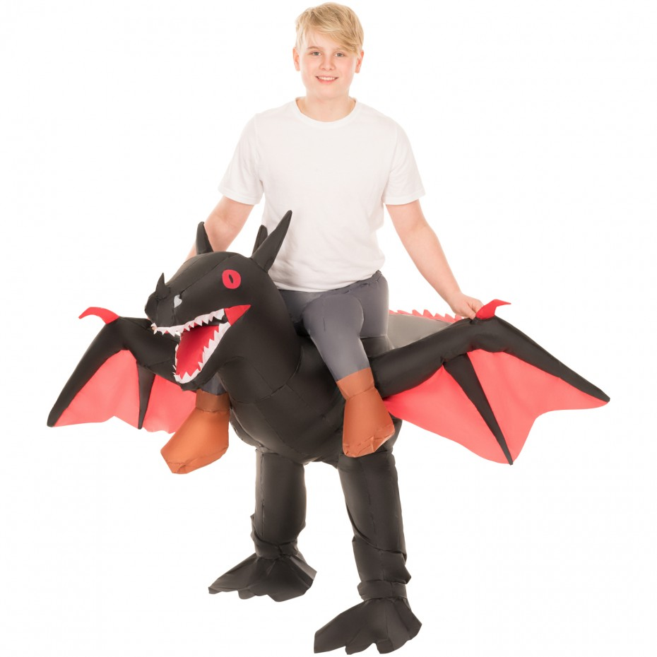 INFLATABLE RIDE-ON DRAGON COSTUME FOR KIDS