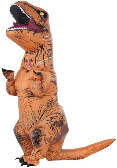 JURASSIC WORLD INFLATABLE T-REX COSTUME W/ SOUND!