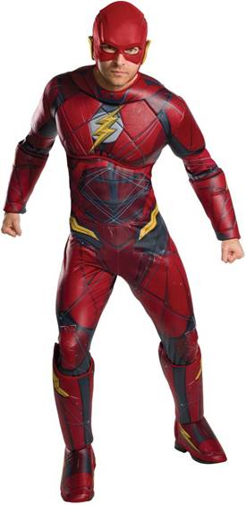JUSTICE LEAGUE FLASH DELUXE COSTUME FOR PLUS MEN