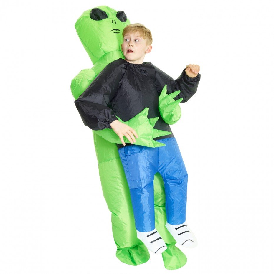 INFLATABLE ALIEN PICK ME UP COSTUME FOR KIDS