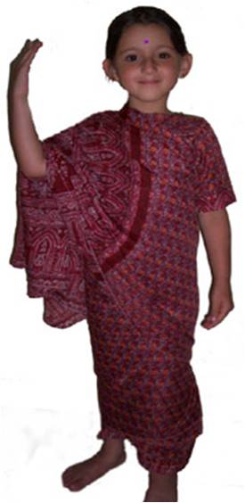 LADY HINDU INDIAN SARI