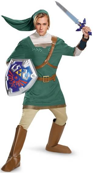 Link Classic Child Green Tunic Costume The Legend Of Zelda Halloween Disguise