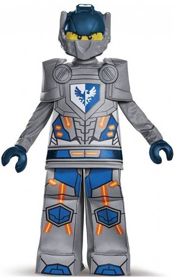 LEGO NEXO KNIGHTS CLAY PRESTIGE COSTUME FOR BOYS