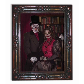 LENTICULAR FRAME COUPLE HALLOWEEN DECORATION