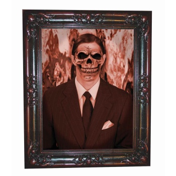 LENTICULAR FRAME MAN HALLOWEEN DECORATION