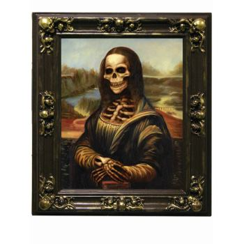 LENTICULAR FRAME MONA LISA HALLOWEEN DECORATION