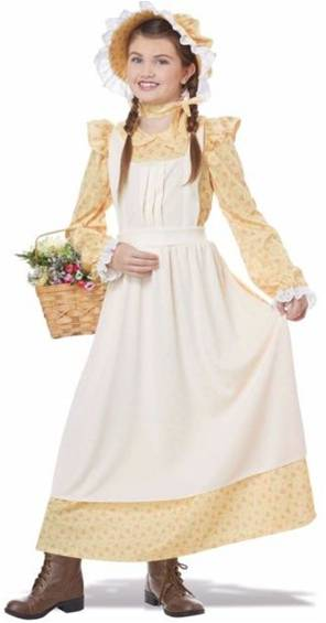 LITTLE PRAIRIE GIRL COSTUME FOR GIRLS