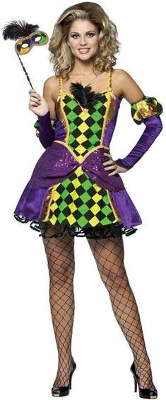 MARDI GRAS QUEEN COSTUME FOR WOMEN
