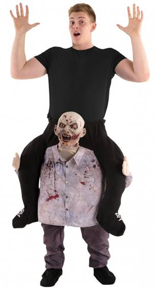 ZOMBIE CARRY ME PIGGYBACK COSTUME FOR ADULTS