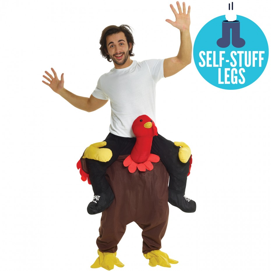 TURKEY PIGGYBACK CARRY RIDE-ON COSTUME FOR ADULTS
