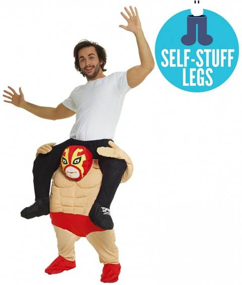 PIGGYBACK WRESTLER COSTUME FOR ADULTS