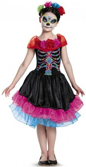 DAY OF THE DEAD MEXICAN COSTUME FOR GIRLS