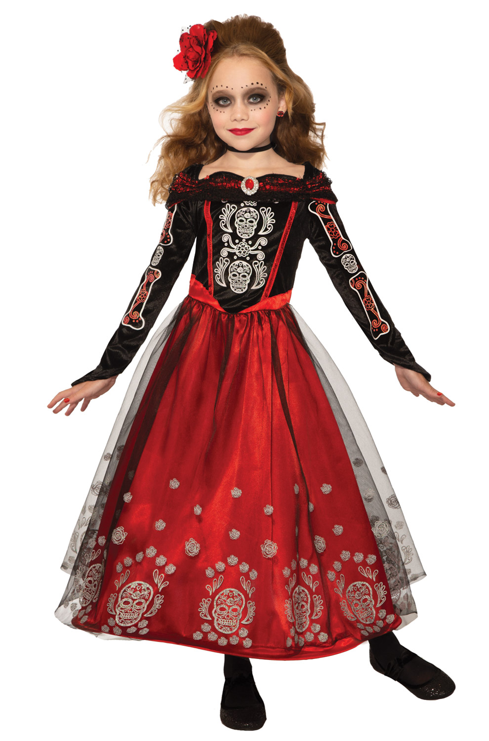 DAY OF THE DEAD PRINCESS COSTUME FOR GIRLS