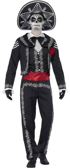 DAY OF THE DEAD SEÑOR BONES COSTUME FOR MEN