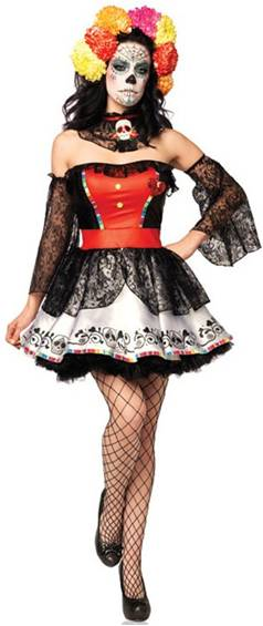 SUGAR SKULL BEAUTY $54.99  sc 1 st  Crazy For Costumes : mexican skeleton costume  - Germanpascual.Com