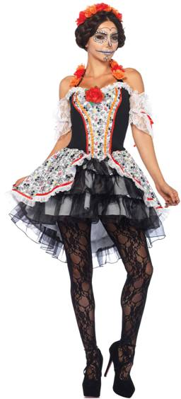 SUGAR SKULL SEÑORITA SEXY COSTUME FOR WOMEN Click for larger image  sc 1 st  Crazy For Costumes/La Casa De Los Trucos (305) 858-5029 - Miami ... & Crazy For Costumes/La Casa De Los Trucos (305) 858-5029 - Miami ...