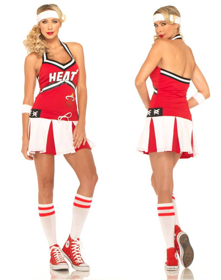 MIAMI HEAT CHEERLEADER COSTUME
