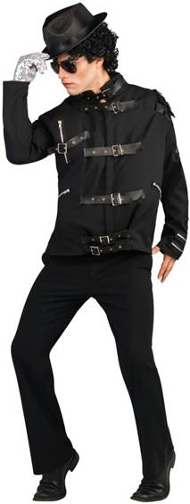 MICHAEL JACKSON DELUXE BAD BLACK BUCKLE JACKET
