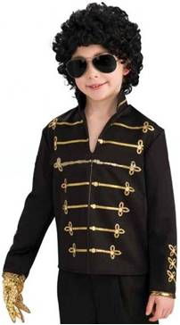 MICHAEL JACKSON PRINTED BLACK MILITARY JACKET