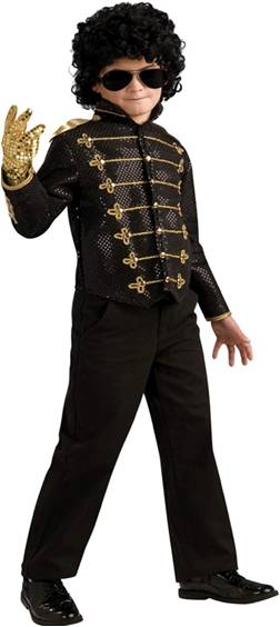 MICHAEL JACKSON DELUXE BLACK MILITARY JACKET