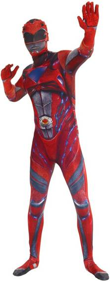 RED RANGER POWER RANGERS MOVIE ADULT MORPH SUIT