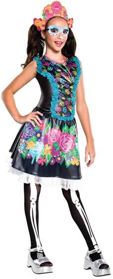 MONSTER HIGH SKELITA CALAVERAS COSTUME FOR GIRLS