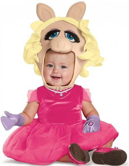 MISS PIGGY INFANT COSTUME FOR GIRLS