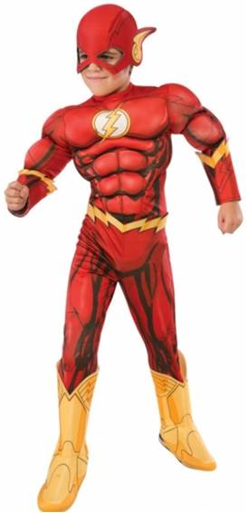 DELUXE MUSCLE CHEST FLASH COSTUME FOR BOYS