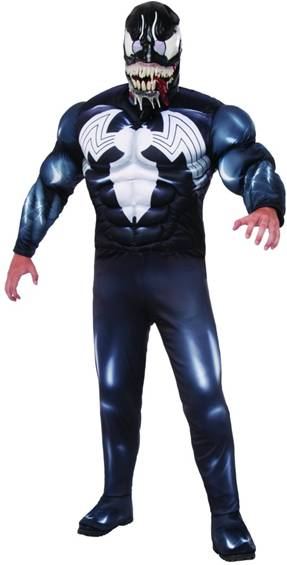 DELUXE MUSCLE CHEST VENOM COSTUME FOR MEN