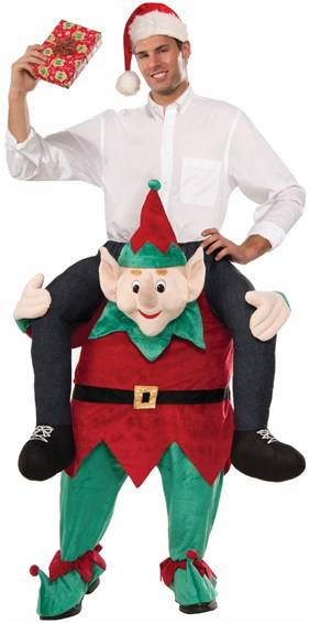 MYSELF ON AN ELF COSTUME FOR ADULTS