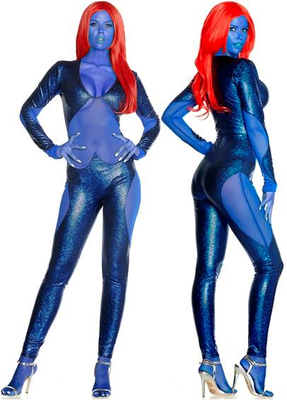 MYSTERIOUS MYSTIQUE COSTUME FOR WOMEN