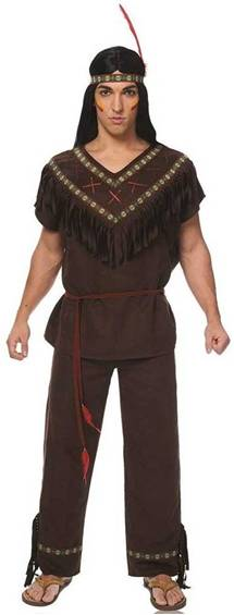 NATIVE AMERICAN WARRIOR COSTUME FOR MEN