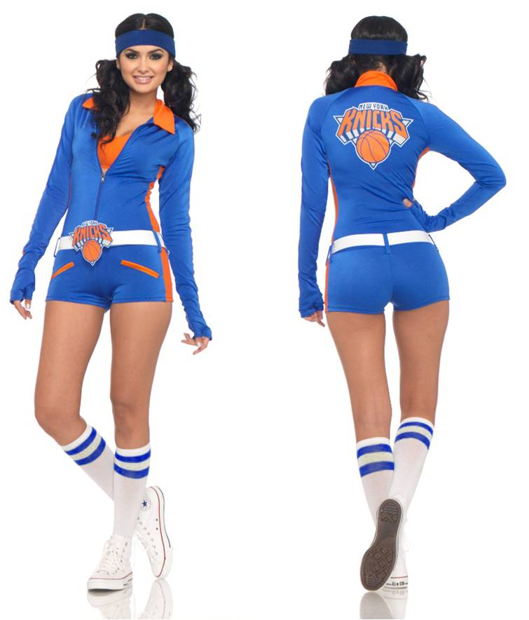 NEW YORK KNICKERBOCKERS LOGO DANCER ROMPER COSTUME