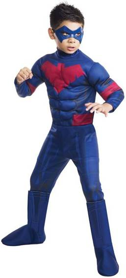 DELUXE MUSCLE CHEST NIGHTWING COSTUME FOR BOYS