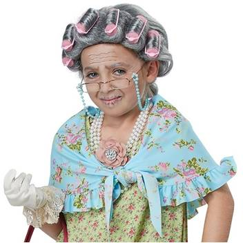 OLD LADY COSTUME KIT FOR GIRLS