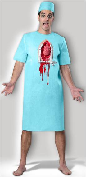 OPEN HEART HORROR SURGEON COSTUME FOR MEN