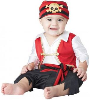 PEE WEE PIRATE COSTUME FOR INFANT BOYS