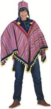 PERUVIAN PONCHO COSTUME FOR ADULTS