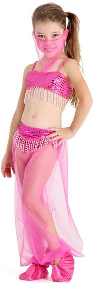 ARABIAN PRINCESS (PINK) COSTUME FOR GIRLS