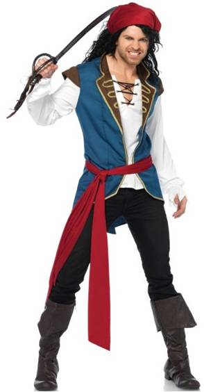 DELUXE PIRATE SCOUNDREL JAKE COSTUME FOR MEN