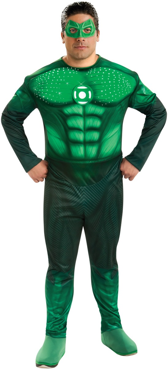 DELUXE LIGHT UP GREEN LANTERN PLUS SIZE