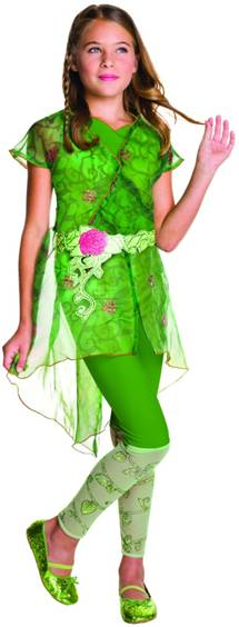 DC COMICS POISON IVY COSTUME FOR GIRLS