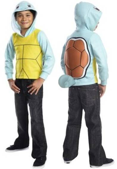 POKEMON SQUIRTLE UNISEX COSTUME HOODIE FOR KIDS