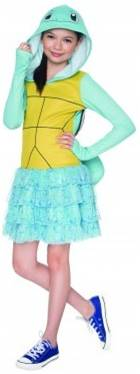 POKEMON SQUIRTLE HOODIE COSTUME DRESS FOR GIRLS
