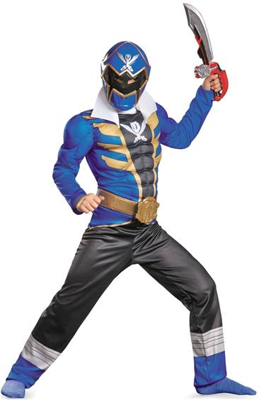 DELUXE POWER RANGERS BLUE RANGER SUPER MEGAFORCE
