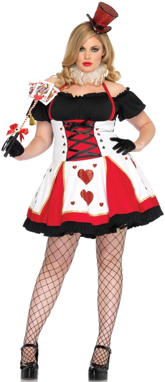 PRETTY PLAYING CARD QUEEN OF HEARTS