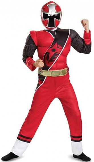 RED POWER RANGER NINJA STEEL COSTUME FOR BOYS