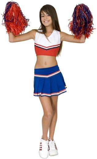 RED WHITE AND BLUE CHEERLEADER  sc 1 st  Crazy For Costumes & All u003e Teen Girls u003e Sexy u003e Cheerleaders - Crazy For Costumes/La Casa ...